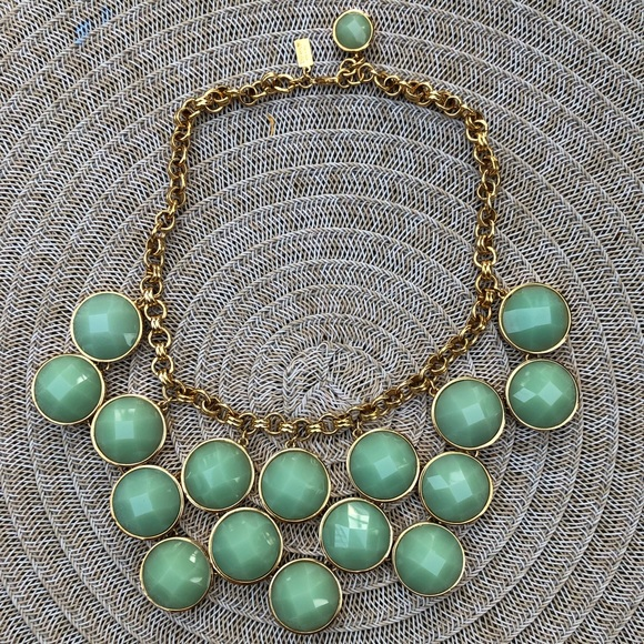 KateSpade 14KGold Plated Turquoise Collar Necklace